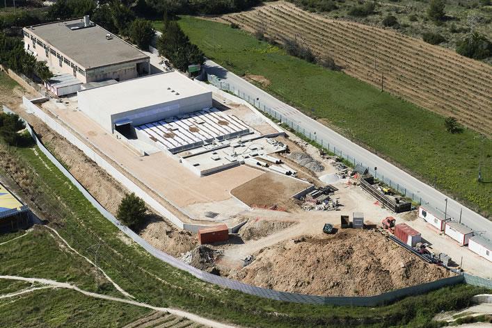 Obras en la EDAR de Moraira (Alicante)